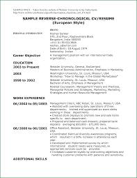 9 an example of chronological cv applicationsformat info