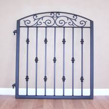 ornamental iron garden gate metal scroll work cast iron collars