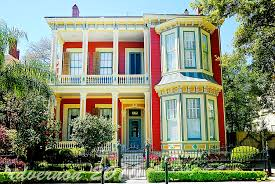 new orleans colorful houses new orleans garden district a southerly flow