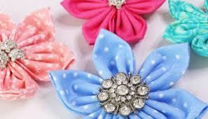 Fabric Flowers How To Make Fabric Yo Yos Diy Fabric Flowers Free Template