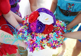 How To Make Mexican Paper Flowers - mexican paper flowers bouquets weddingbee photo gallery