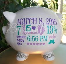 customized piggy bank baby personalized piggy bank custom baby birth stats gift baby