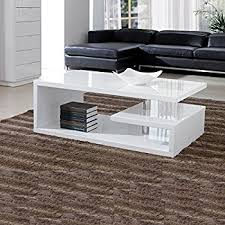 White Coffee Tables Coffee Table Shape Adjustable High Gloss White Amazon Co Uk