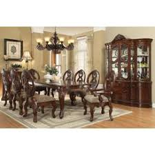 9pc dining room set acme quinlan traditional cherry formal dining table set