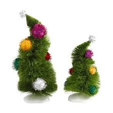 department 56 peanuts halloween amazon com department 56 grinch villages wonky trees set of 2