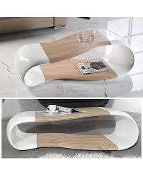 Table Salon Moderne by Top Design Table De Salon Moderne 120 Cm Laque Et Bois