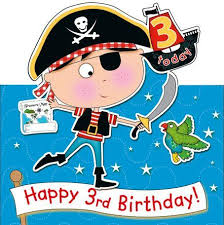 birthday boy pirate ship 3rd birthday boy fold out 1 99 a great pirateship