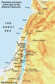 and syria during biblical patriarchs map