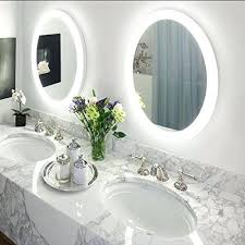lighted bathroom vanity mirrors round led lighted wall mount