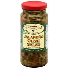 gambino s olive salad gambino s medium jalapeno olive salad 16 oz pack of 6