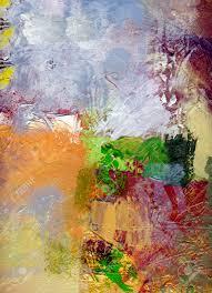 Opaque Couche Abstrait Multicolore Couche Uvre Opaques Et Peinture à L U0027huile