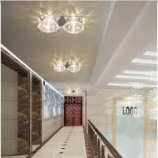 Hallway Lights Modern Crystal Hallway Light Led Indoor Lights Multiple Trimless