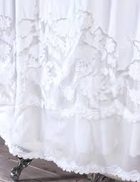 White Lace Shower Curtain by Shower Curtains Shower Curtain Dress Bathroom Decorating Shower