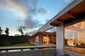 concrete home built on hawaiian lava flow residential architect