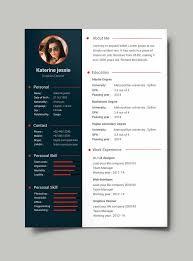 free modern resume templates pdf form free professional resume cv template psd pinteres