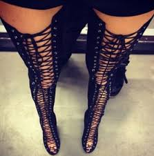boots size 12 2015 lace up thigh high boots cut outs gladiator sandal