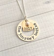 graduation jewelry gift graduation jewelry the journey begins necklace 2018