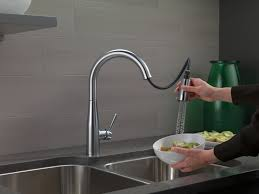 Delta Brushed Nickel Kitchen Faucet Essa Kitchen Collection