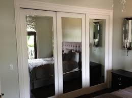 Mirror Sliding Closet Doors Mirrored Sliding Closet Doors Makeover To Bedroom New Home