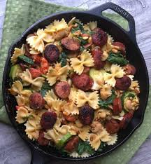 Pasta Sausage Smoked Sausage Pasta W White Beans Spinach And Toasted Pine Nuts
