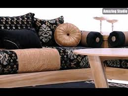 marokkanische sofa marokkanische möbel sofa in beige und schwarz