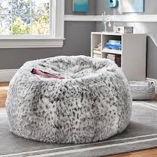 gray leopard beanbag pbteen