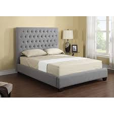 King Bed Frame Upholstered Emerald Home Upholstered Platform Bed Hayneedle