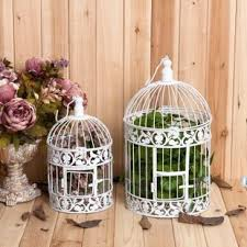 wrought iron bird cage wedding decoration white bird cage