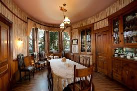 oval dining room in the kellogg house at the heritage museum of