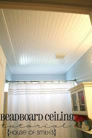 ceiling ideas for bathroom add beadboard and crown molding to your bathroom ceiling