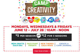 michaels camp creativity 2017 mycentralfloridafamily com