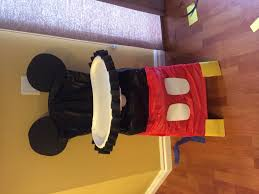 Mickey Mouse Lawn Chair by High Chair Decor For Mickey Mouse Themed 1st Birthday Party 1st