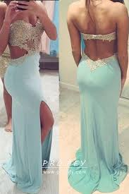how to cut out the back of a cabinet low back cut out slit lace spandex prom dress