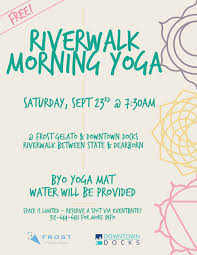 chicago riverwalk morning yoga free tickets sat sep 23 2017