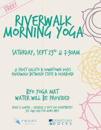 chicago riverwalk morning yoga free tickets sat sep 23 2017