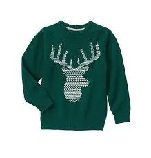 boy pine green deer sweater by gymboree