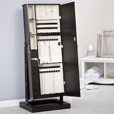 Black Armoire Furniture Black Corner Mirror Jewelry Armoire With Nightstand And