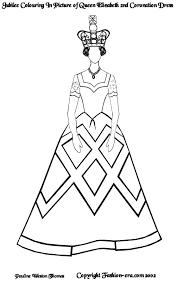 jubilee colouring picture queen elizabeth ii u0027s coronation dress