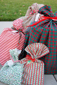 christmas wrap bags reusable fabric gift bags instead of wrapping paper i think i m
