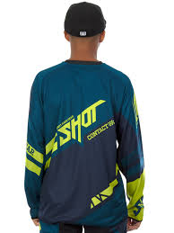 shot motocross gear shot navy lime 2016 raceway contact mx jersey shot