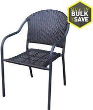 Stackable Outdoor Dining Chairs Garden Treasures Pelham Bay Brown Wicker Stackable Barrel Patio