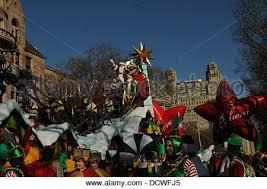 macy s thanksgiving day parade santa claus float stock photo