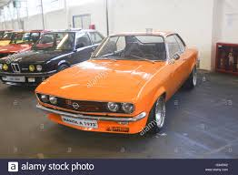 opel orange an opel manta 1973 oldtimer automobile exhibited at fast and
