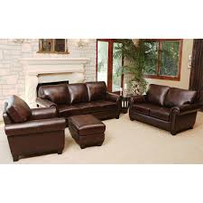 amberlyn 4 piece top grain leather living room set