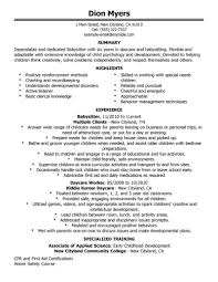 Best Nanny Resume Example Livecareer by Babysitter Resume Sample Template Resume Builder