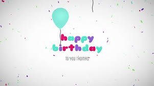 Happy Birthday Wishes Message Happy Birthday Wishes Message Balloons Particles Logo Text Reveal