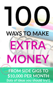 How To Earn Money From List Of 100 Ways To Make Money How To Make Extra Cash What