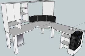 L Shaped Desk Designs Best 25 Gaming Desk Ideas On Pinterest Pc Setup Pertaining To
