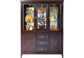 rooms to go curio cabinets cindy crawford home highland park ebony 2 pc china cabinet china