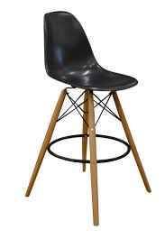 dining room contemporary target stool with stainless steel legs